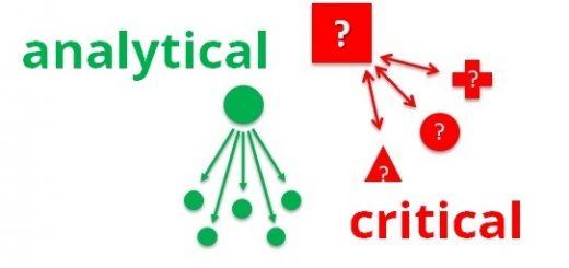 analytical thinking vs critical thinking